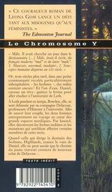 Le chromosome Y - 4ème de couverture - Format classique