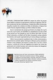 La pratique de l'action communautaire autonome ; origine, continuité, reconnaissance et ruptures - 4ème de couverture - Format classique