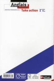 TAKE ACTION ; 1ères STI2d/STL/STD2A ; Anglais LV1/LV2 ; élève (édition 2011) - 4ème de couverture - Format classique