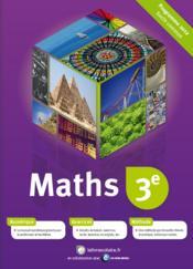 Mathématiques ; 3ème - Couverture - Format classique