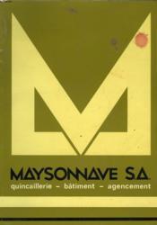 Maysonnave S. A. - Couverture - Format classique