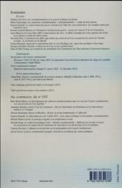 Revue Francaise De Droit Constitutionnel N.104 - 4ème de couverture - Format classique