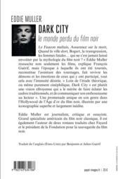 Dark city - 4ème de couverture - Format classique