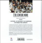 Être ceinture noire ; fédération française de judo - 4ème de couverture - Format classique