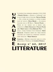 Revue Agone N.63 - Couverture - Format classique