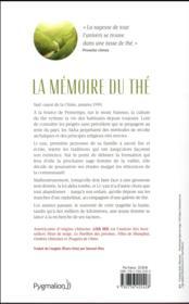 La mémoire du thé - 4ème de couverture - Format classique