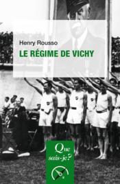 Le régime de Vichy - Couverture - Format classique