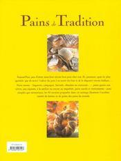 Pains de tradition - soixante recettes du monde entier - 4ème de couverture - Format classique