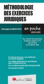 Méthodologie des exercices juridiques (édition 2020/2021) - Couverture - Format classique