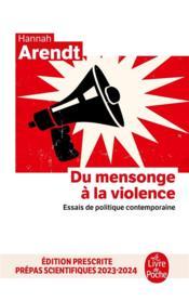 Du mensonge à la violence ; essais de politique contemporaine - Couverture - Format classique