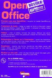 (v.9782300017162) Open Office - 4ème de couverture - Format classique