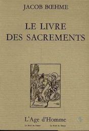 Le livre des sacrements - Couverture - Format classique