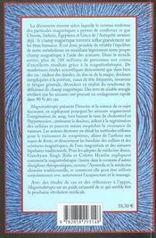 Magnétothérapie et médecine traditionnelle - 4ème de couverture - Format classique