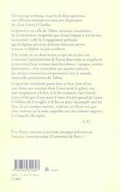 Jean genet, post-scriptum essai - 4ème de couverture - Format classique