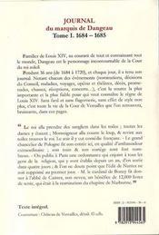 Journal de la cour du roi soleil t.1 ; (1684-1685) ; la révocation de l'édit de Nantes - 4ème de couverture - Format classique