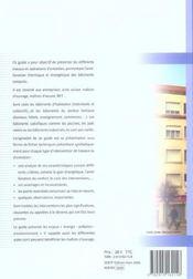 Amélioration énergétique des bâtiments existants : les bonnes solutions - 4ème de couverture - Format classique