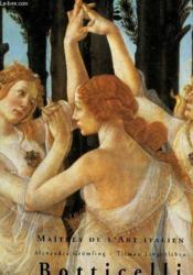 Les maitres de l'art italien ; botticelli - Couverture - Format classique