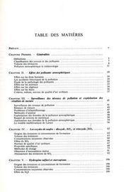 Physicochimie et physiopathologie des polluants atmosphériques - Intérieur - Format classique