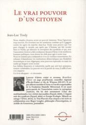 Le vrai pouvoir d'un citoyen ; manifeste de désobéissance civile - 4ème de couverture - Format classique