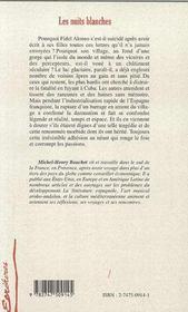 Nuits Blanches (Les) - 4ème de couverture - Format classique