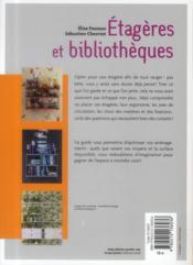 Étagères et bibliothèques ; opération gain de place - 4ème de couverture - Format classique