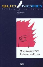 Sud/Nord 16 - 11 Septembre 2001 - Couverture - Format classique