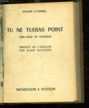 Tu Ne Tueras Point. - Couverture - Format classique