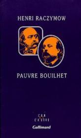 Pauvre bouilhet - Couverture - Format classique