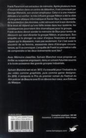 Mémoire classifiée - 4ème de couverture - Format classique