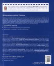 Le grand cahier photoshop ; 100 tutoriels - 4ème de couverture - Format classique