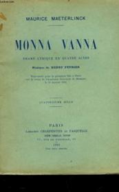 Monna Vanna - Couverture - Format classique