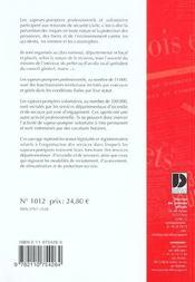 Sapeurs-pompiers ; organisation des services departementaux d'incendie et de secours - 4ème de couverture - Format classique