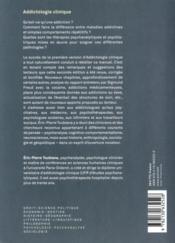 Addictologie clinique (2e édition) - 4ème de couverture - Format classique