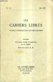 LES CAHIERS LIBRES REVUE D'INFORMATION ET DE CULTURE N°114 MAI 1970 - Prototypes sociaux aujourd'hui - Notes de lecture. - Couverture - Format classique