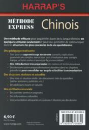 Méthode express ; chinois - 4ème de couverture - Format classique