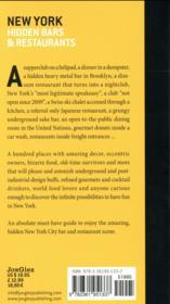 New York ; hidden bars and restaurants - 4ème de couverture - Format classique