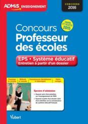 Concours professeur des écoles ; EPS et système éducatif entraiînement - Couverture - Format classique