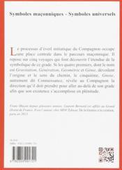 LES SYMBOLES MACONNIQUES T.67 ; les cinq voyages du compagnon - 4ème de couverture - Format classique