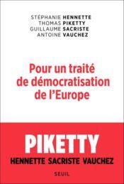 Pour un traité de démocratisation de l'Europe - Couverture - Format classique