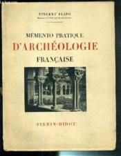 Memento Pratique D'Archeologie Francaise - Couverture - Format classique