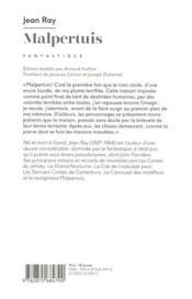 Malpertuis - 4ème de couverture - Format classique