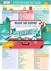 Mémoniak ; bloc de listes des choses à mettre dans sa valise (édition 2021) - Couverture - Format classique