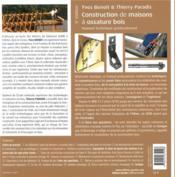 Construction de maisons à ossature bois ; manuel technique professionnel (5e édition) - 4ème de couverture - Format classique