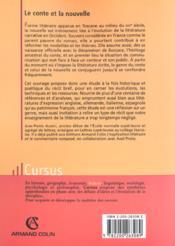Le conte et la nouvelle - 4ème de couverture - Format classique
