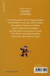 L'histoire vraie des bonobos à lunettes - 4ème de couverture - Format classique