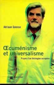 Oecumenisme Et Universalisme - Couverture - Format classique