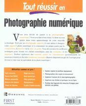 Tout Reussir En Photographie Numerique - 4ème de couverture - Format classique