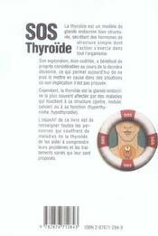 SOS thyroïde - 4ème de couverture - Format classique