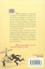 Harald Le Viking - 4ème de couverture - Format classique