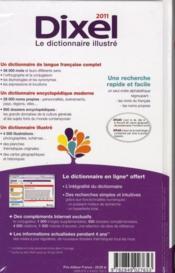 Dictionnaire Dixel (édition 2011) - 4ème de couverture - Format classique